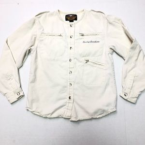 Harley Davidson Button Up Long Sleeve Shirt Small
